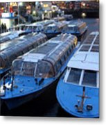 Idle Tour Boats -- Amsterdam In November Metal Print