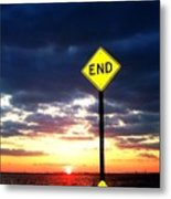 Idoits Guide To The End Of The Day  Metal Print