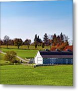 Idyllic Autumn Farm Metal Print
