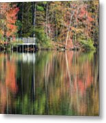 Idyllic Autumn Reflections Metal Print