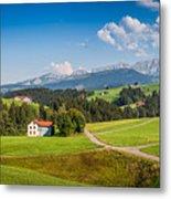 Idyllic Landscape In The Alps, Appenzellerland, Switzerland Metal Print