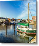 Idyllic North Sea Town Of Husum Metal Print