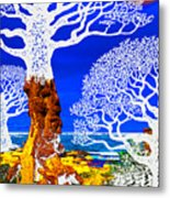 If A Tree Falls In Sicily White Metal Print