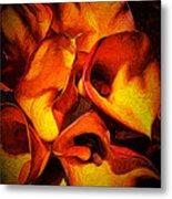 If Van Gogh Painted Calla Lilies Metal Print