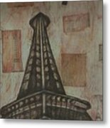 Iffel Tower Metal Print