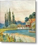 Iffley Mill On The River Thames Metal Print