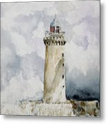 ighthouse Kereon Ouessant island Britain Metal Print