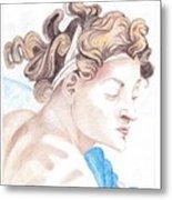 Ignudo Sistine Chappel Michelangelo Metal Print