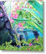 Iguana Metal Print
