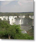 Iguassu Falls From Brazil Metal Print