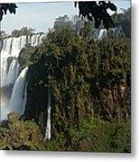 Iguazu Falls Panoramic View Metal Print
