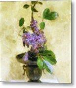 Ikebana Lilacs Metal Print