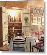 Il Caffe Dell'armadio Metal Print by Guido Borelli