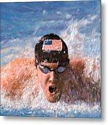 Il Nuotatore Metal Print