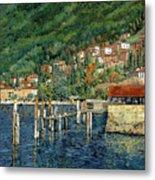 il porto di Bellano Metal Print by Guido Borelli