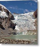 Illampu Glacier Lake Or Laguna Glacial Metal Print