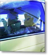 Illegal Aliens Entering The Us From Mexico 2 Metal Print