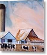 Illinois Farm Metal Print