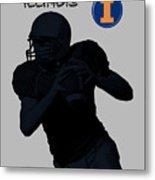 Illinois Football Metal Print
