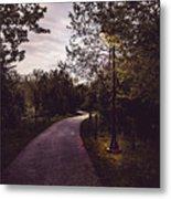 Illuminated Foot Path Metal Print