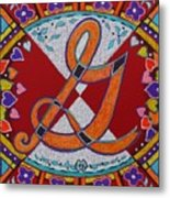 Illuminated Letter G Metal Print