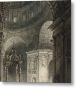 Illumination Of The Cross In St. Peter's On Good Friday, 1787 Metal Print
