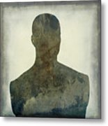 Illustration Of A Human Bust. Silhouette Metal Print