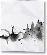 Illustration Of City Skyline - Kiev In Chinese Ink Metal Print