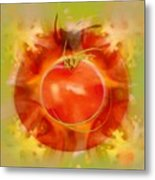 Illustration Of Tomato Metal Print