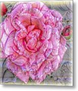 Illustration Rose Pink Metal Print