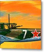 Ilyushin II 2m3 Russian Ground Attack Aircraft Metal Print