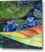 I'm In Love With A Big Blue Frog Metal Print