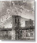 Im Selling The Brooklyn Bridge Or At Least A Photo Of It  Metal Print