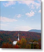 Image Included In Queen The Novel - New England Church Enhanced Metal Print