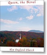 Image Included In Queen The Novel - New England Church Enhanced Poster Metal Print