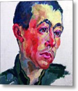 Image Of A Soldier Metal Print