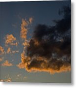 Image Of Clouds At Sunset Metal Print