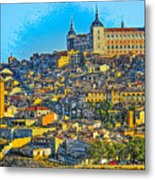 Image Of Portugal From The Road Metal Print