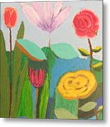 Imagined Flowers One Metal Print
