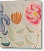 Imagined Flowers Two Metal Print