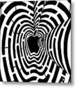 iMaze Apple Ad Maze Idea Metal Print