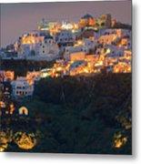 Imerovigli After Sunset, Santorini Metal Print