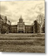 Immaculata University In Black And White Metal Print