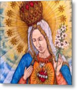 Immaculate Heart Of Virgin Mary Metal Print