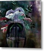 Impatient Painterly Floral Metal Print