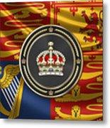 Imperial Tudor Crown Over Royal Standard Of The United Kingdom Metal Print