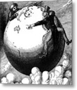 Imperialism Cartoon, 1876 - To License For Professional Use Visit Granger.com Metal Print