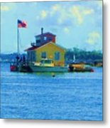Impossible House Boat  - New York Metal Print