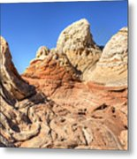 Impossible Rock Formations In The White Pocket Metal Print