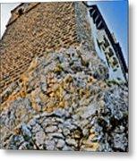 Impregnable Wall. Bran Castle - Dracula's Castle. Metal Print